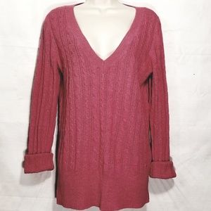 American Eagle  | Cable Knit V-Neck Sweater
